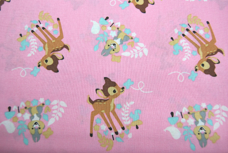 Bambi Woodland Dreams Allover Baumwolle 05m