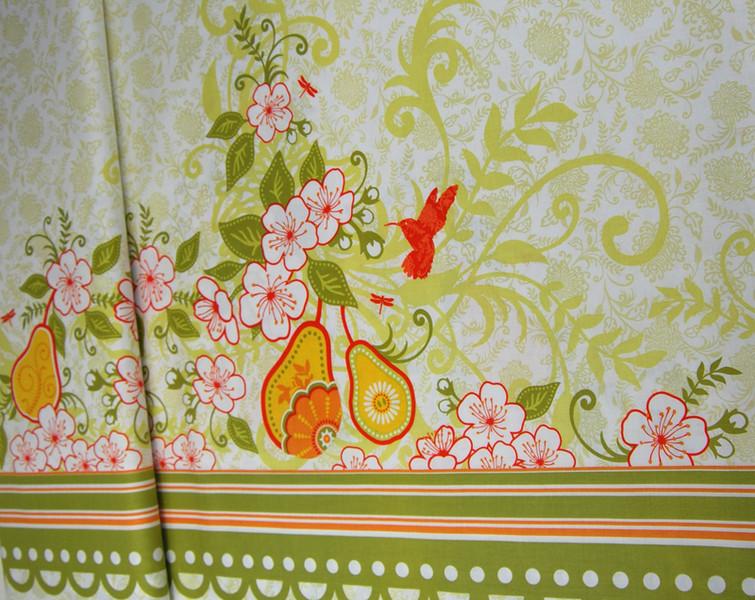 Decadence-Blumen Kolibri Panel Baumwolle 059m - 1