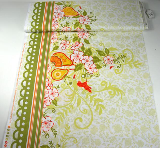 Decadence-Blumen Kolibri Panel Baumwolle 059m - 2