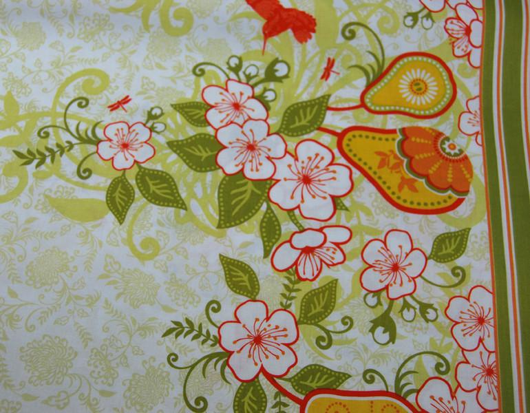 Decadence-Blumen Kolibri Panel Baumwolle 059m - 3