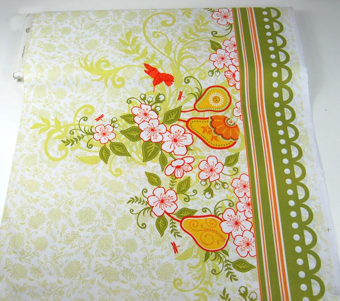 Decadence-Blumen Kolibri Panel Baumwolle 059m - 4
