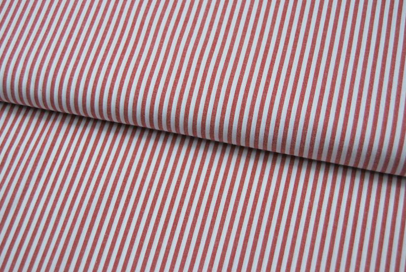 Rot-Weiß gestreifte Baumwolle 0,5 meter