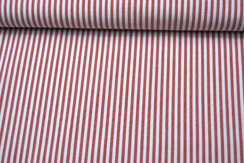 Rot-Weiß gestreifte Baumwolle 05 meter - 2