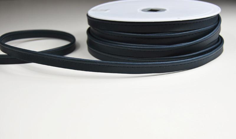 Kunstleder Paspelband in Nachtblau - 1 Meter