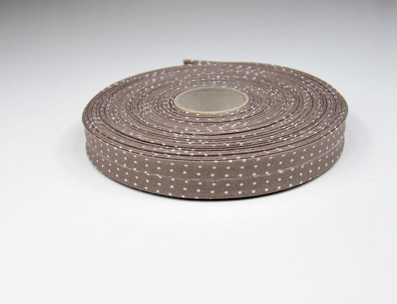 Schraegband -1 m in Milchkaffee mit weissen Minipunkte