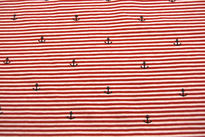 Jersey - Rot-Weiß mit Ankern -