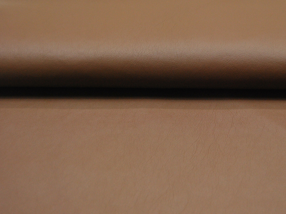 Weiches Kunstleder in Braun - 0 5 Meter