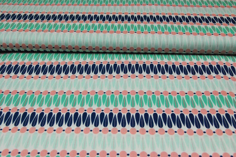 Camelot - Baumwolle mit graphischen Muster 0 5m