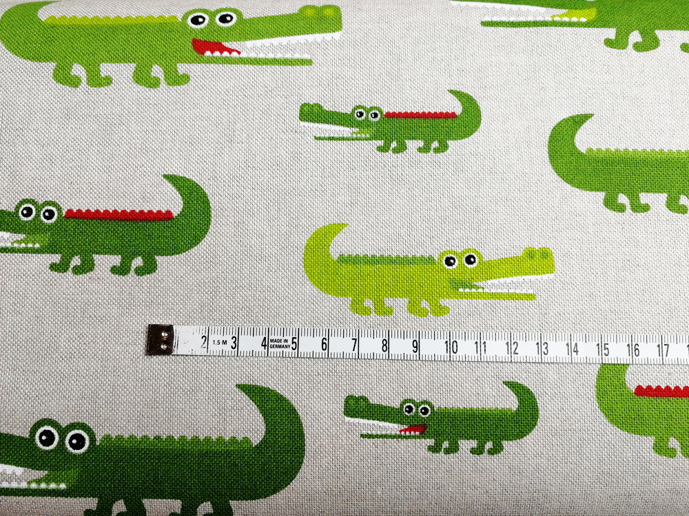 Krokodile auf Natur - Dekostoff - 0,5m - 3