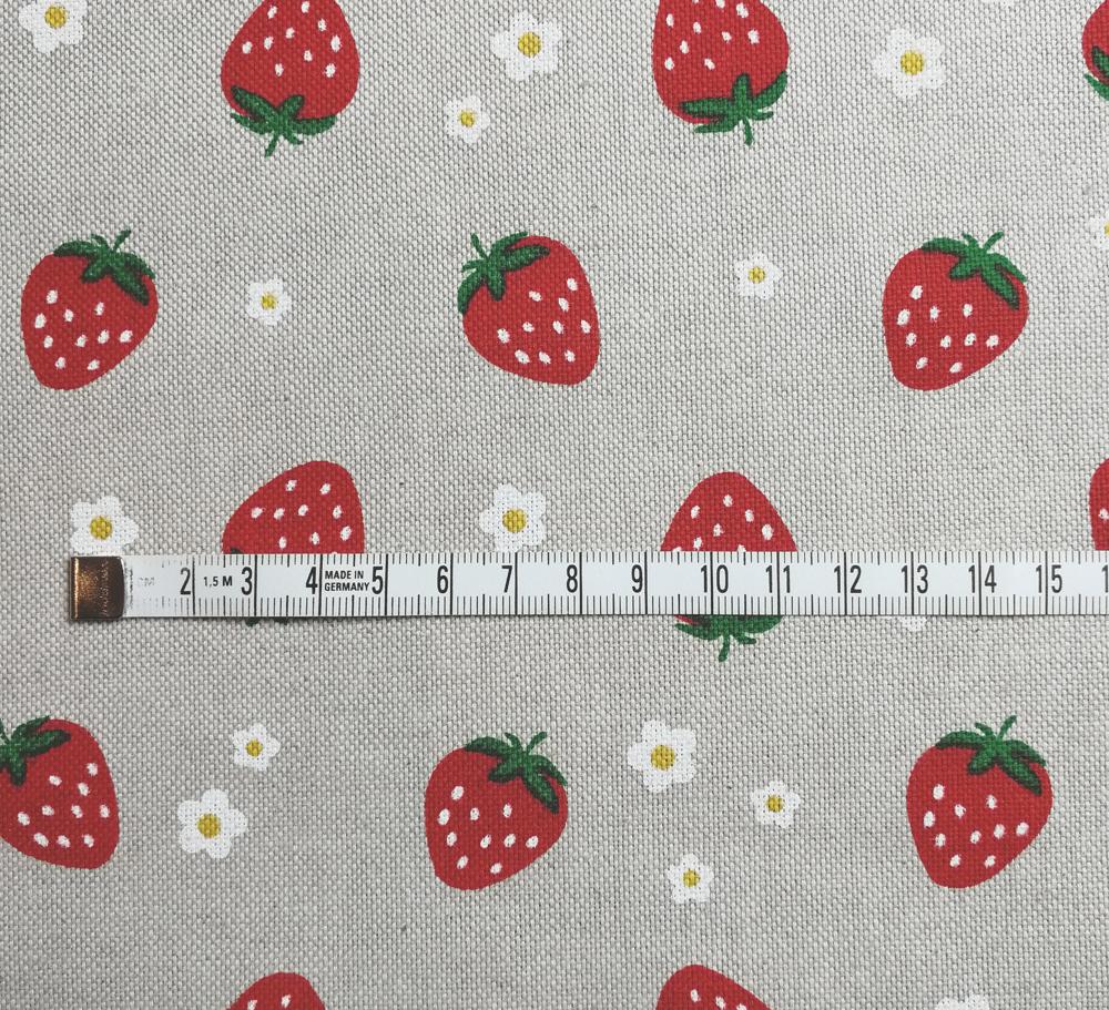 Erdbeeren auf Natur - Dekostoff - 0,5m - 2
