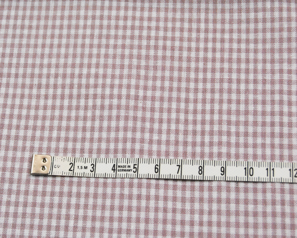 kleines Karo Altrosa - Baumwolle 0,5 Meter