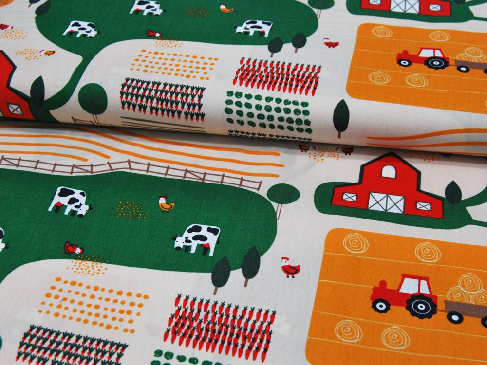 Baumwolle - Bauernhof Muster - 05