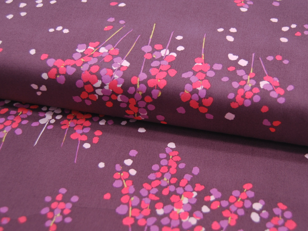 Baumwolle Mayfair Blüten und Blumen auf
