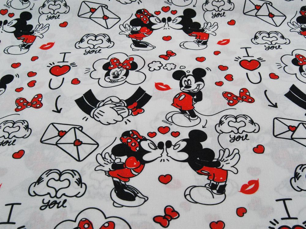 Baumwolle Mickey Mouse mit Minnie und