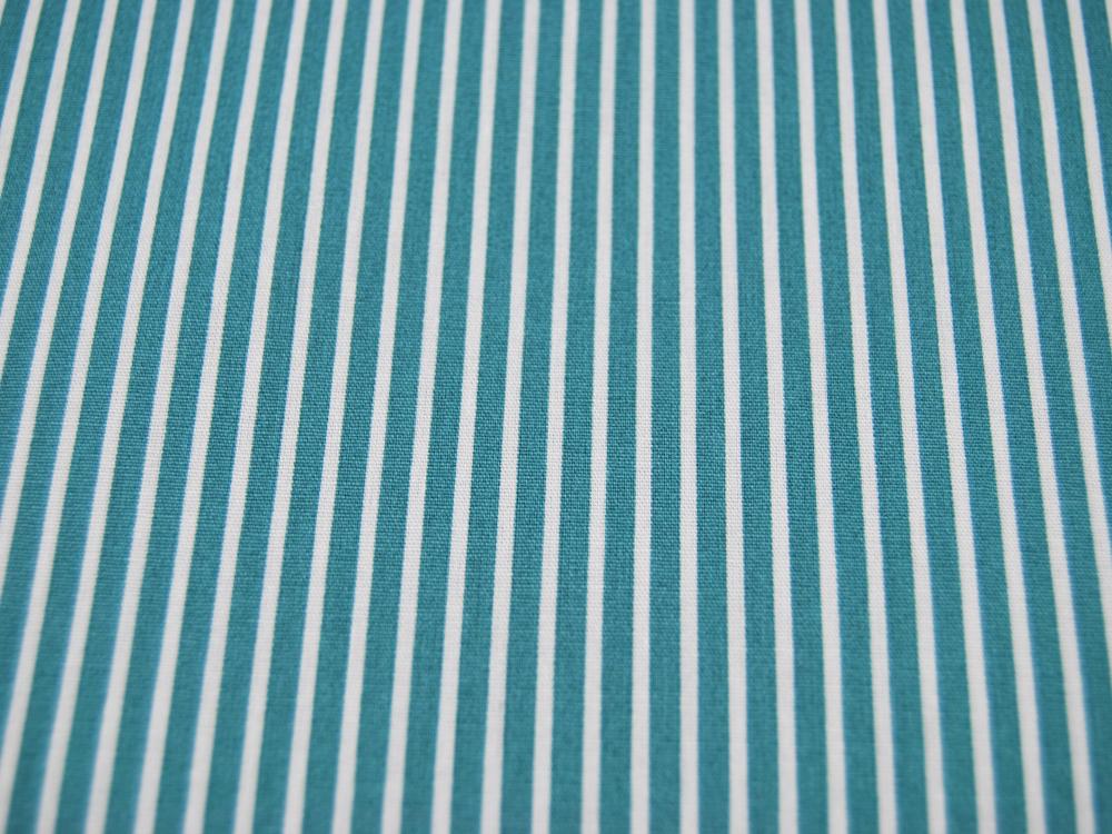 Baumwolle - Stripe - Salbei-Weiss gestreift