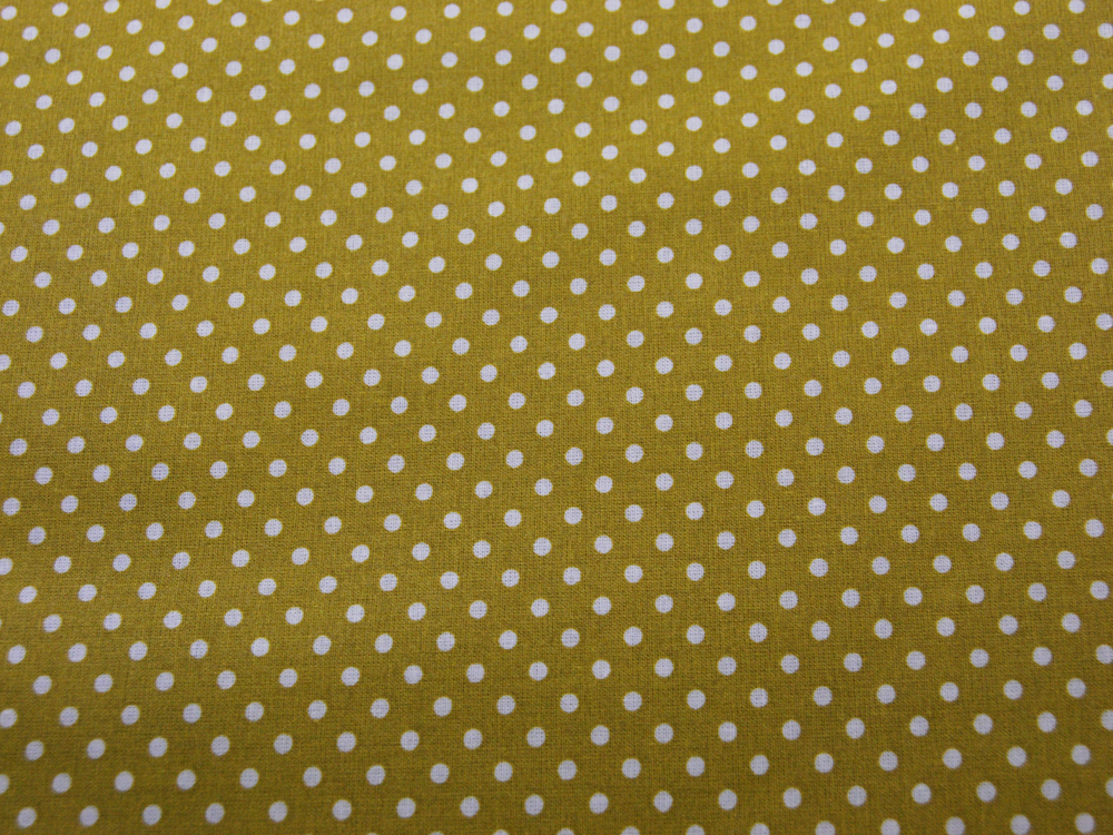 Beschichtete Baumwolle - Punkte auf Senf 50 x 69 cm - 3