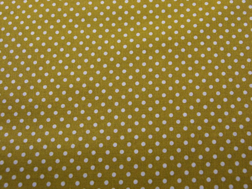 Beschichtete Baumwolle Punkte auf Senf cm - 3