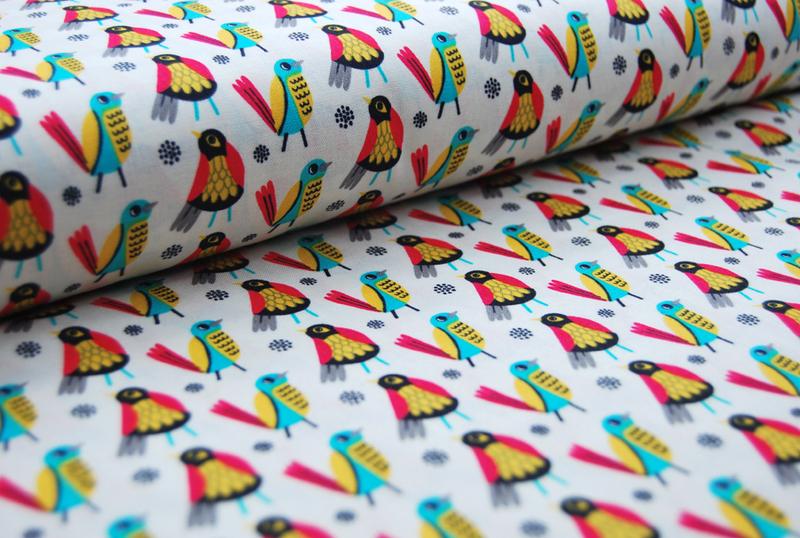 Birds of Feather Vogel Baumwolle Meter