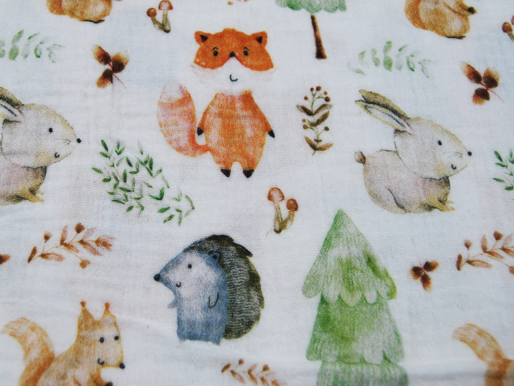 Musselin/Double Gauze - Forest Animals -