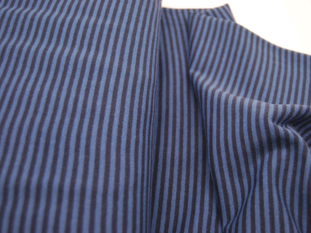 Bündchen Gestreift Jeansblau Dunkelblau cm im