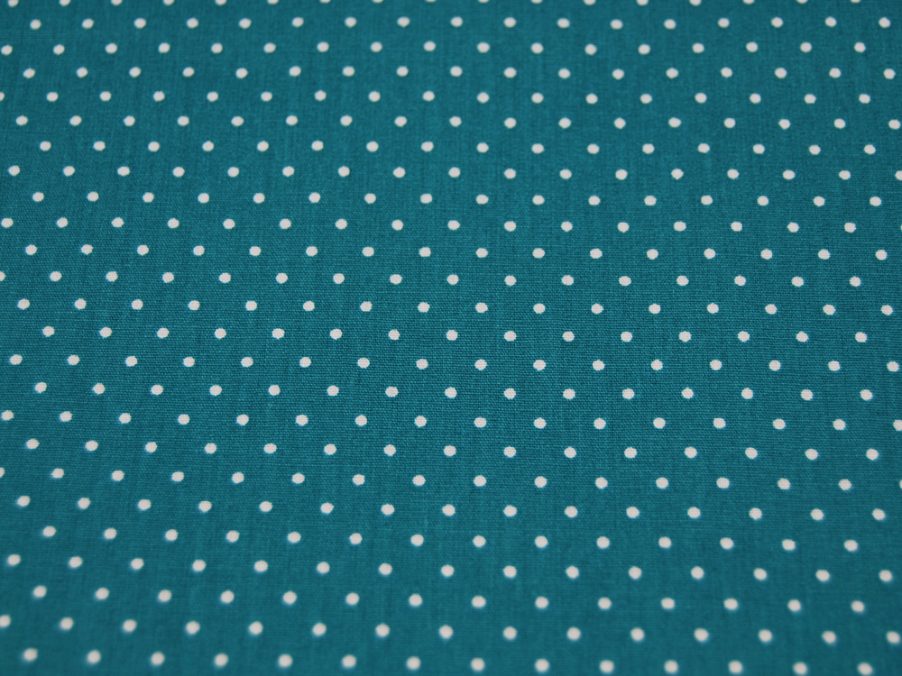 Small Dots Minipunkte auf Petrol Baumwolle