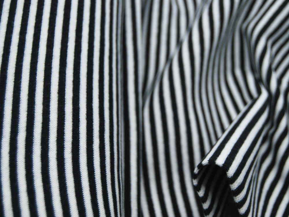 Bündchen Ringelbündchen Schwarz Weiß cm im