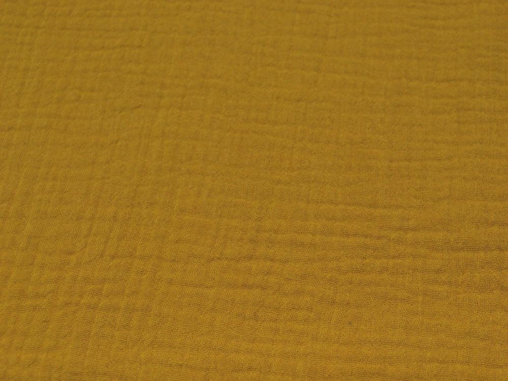 Musselin/Double Gauze - Uni Ocker 0,5 m