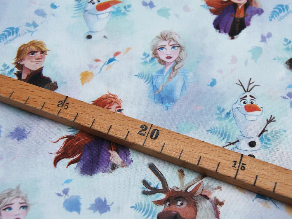 Baumwolle Frozen Die Eiskönigin Köpfe 05m