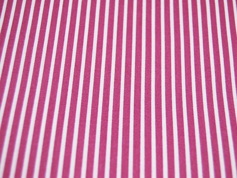 Baumwolle - Stripe - Mauve-Weiss gestreift