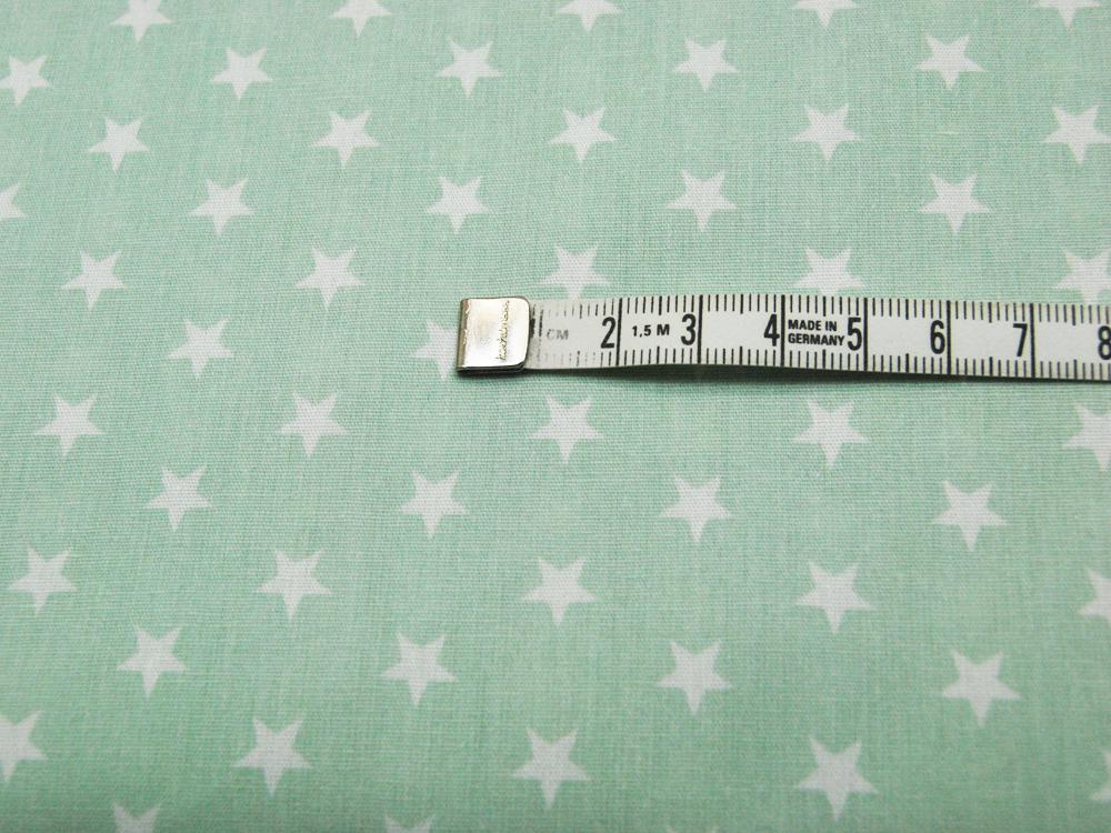 Petit Stars - Sterne auf Mint - Baumwolle 0,5m