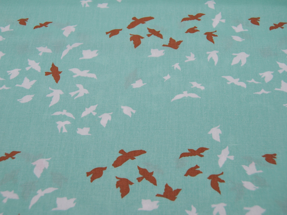 Baumwolle Aves Chatter Shine Vögel auf
