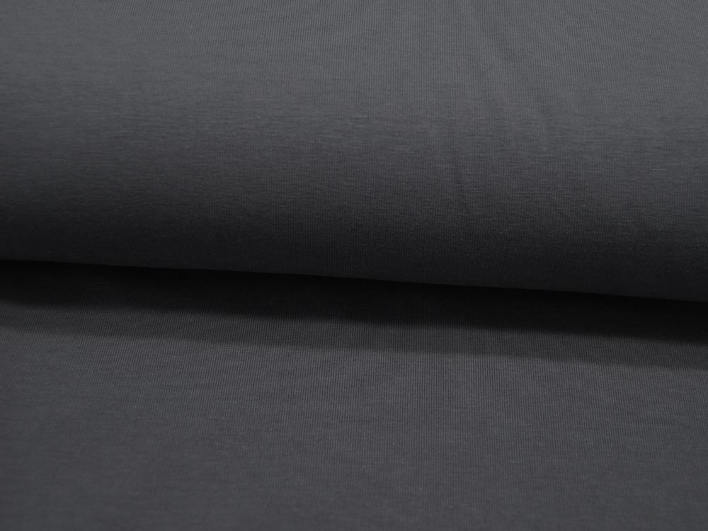 Jersey GOTS Uni: Dunkelgrau Anthrazit Meter