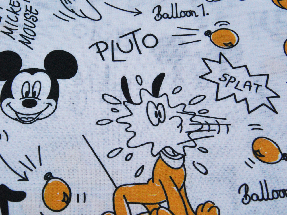 Baumwolle Mickey Mouse mit Pluto 05m