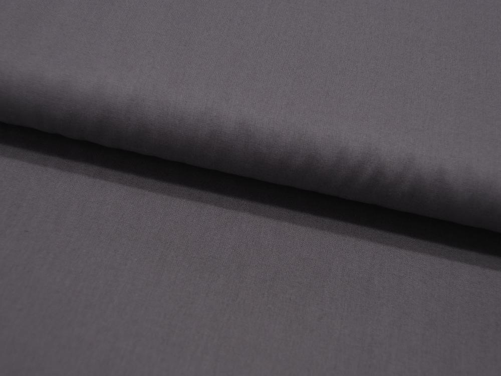 Baumwolle Uni Dunkel Grau Anthrazit Meter