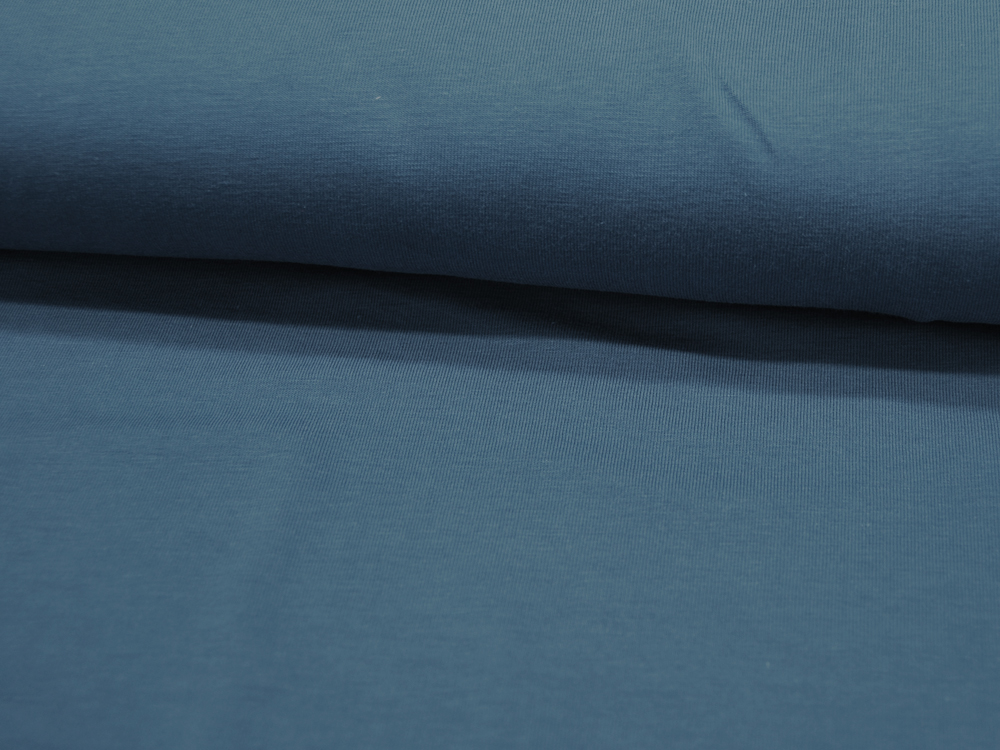 Jersey GOTS Uni: Jeans Blau Meter