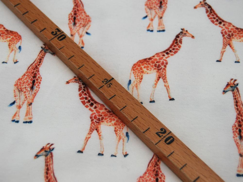 Jersey Giraffen auf Creme Digitaldruck Meter