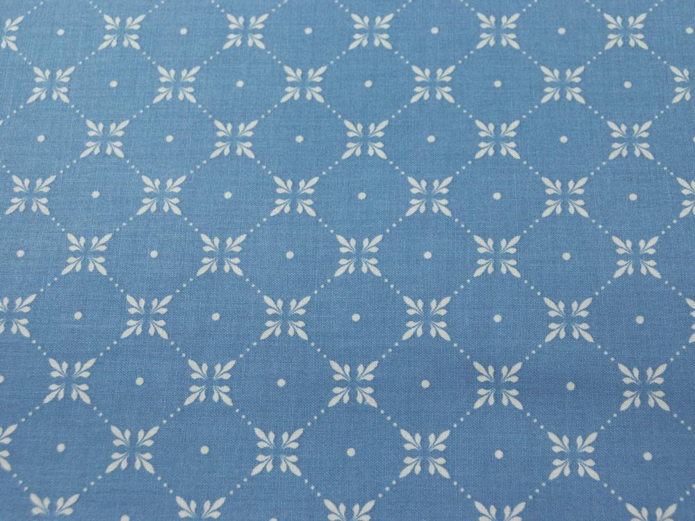 Beschichtete Baumwolle - Graphisches Muster Hellblau 50 x 69 cm - 3