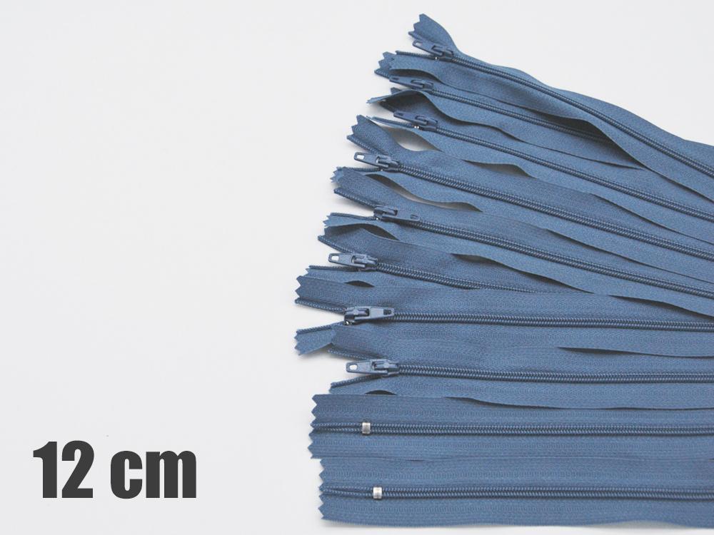 10 x 12cm jeansblaue Reißverschlüsse