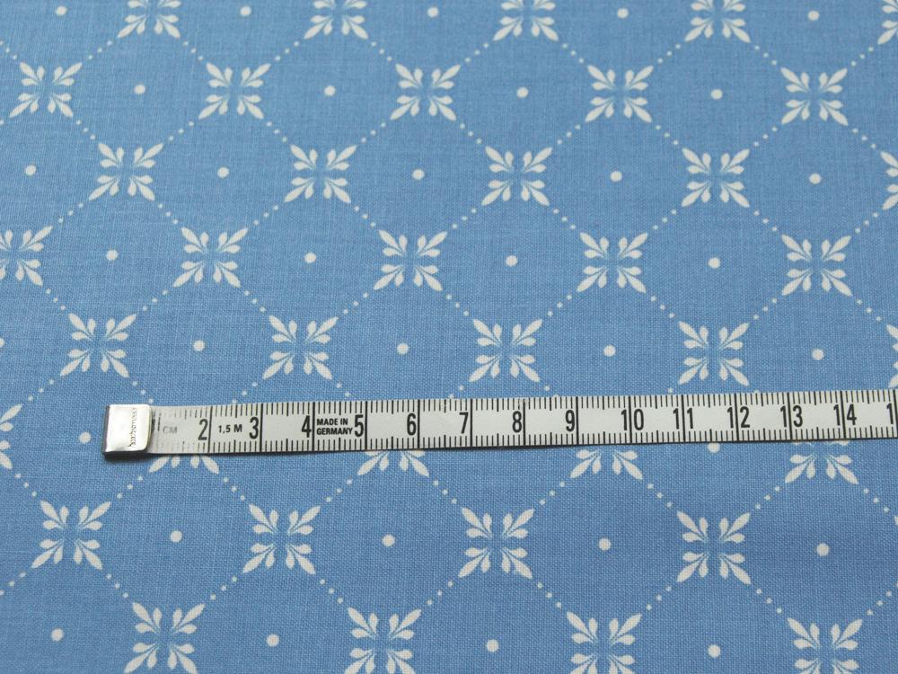Beschichtete Baumwolle Graphisches Muster Hellblau 140cm