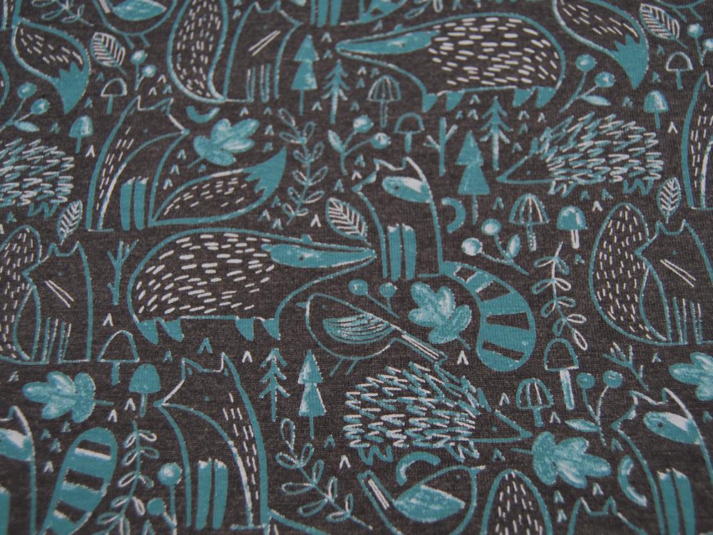 Baumwolle SWEET BUNNY Hasen und Blumen