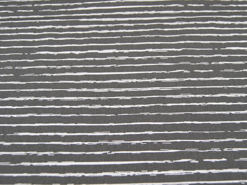 Baumwolle - Weiße Streifen auf Dunkelgrau