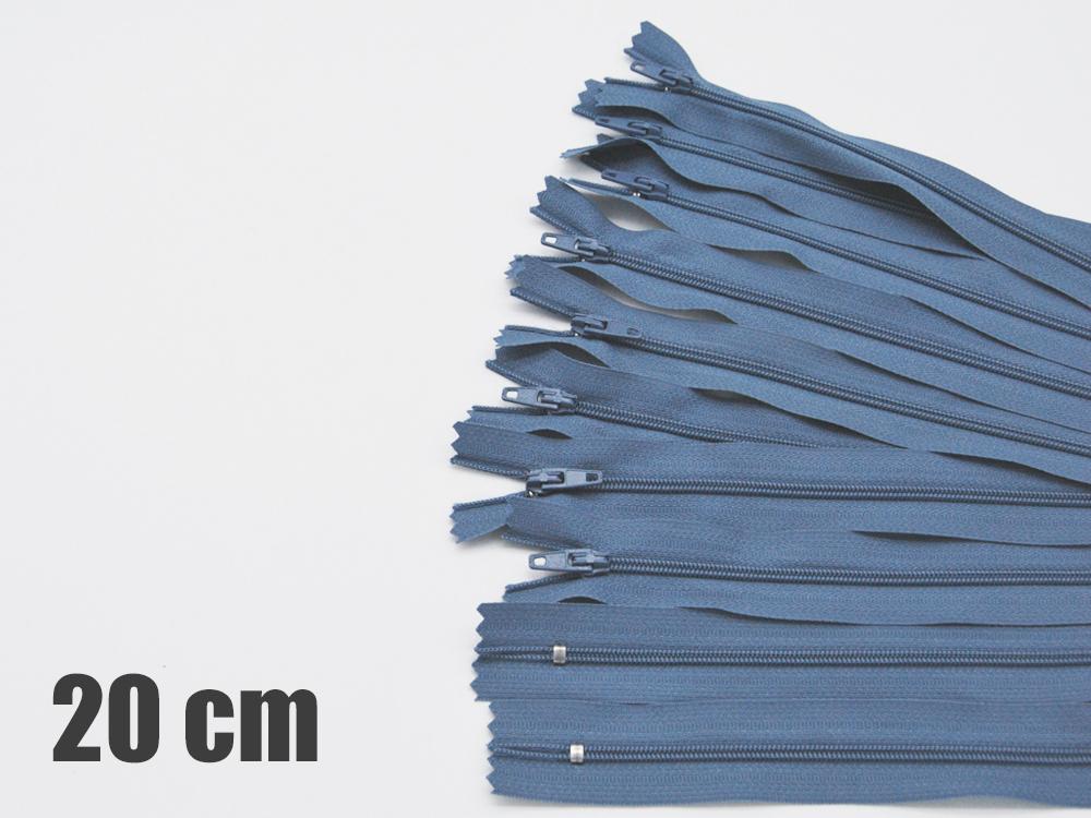 10 x 20cm jeansblaue Reißverschlüsse