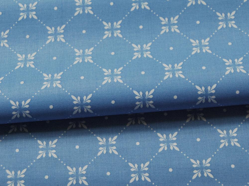 Beschichtete Baumwolle Graphisches Muster Hellblau cm - 2