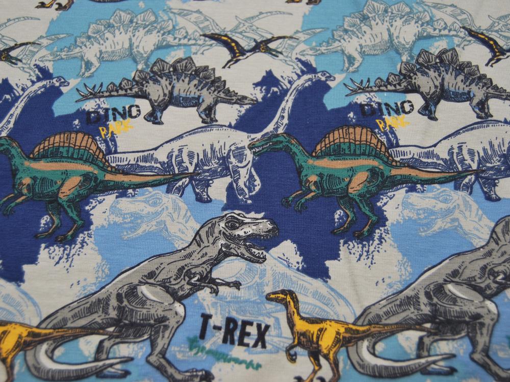 Jersey Dino T-Rex auf Blau Meter