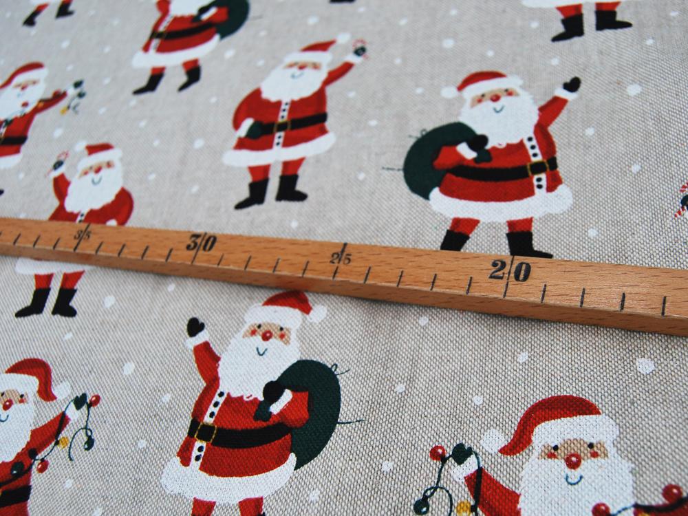 Dekostoff - Santa Greeting - Weihnachtsmänner