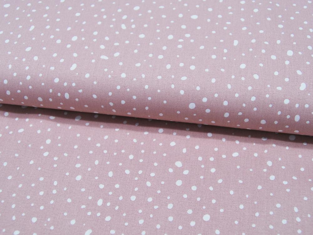 ORGANIC Baumwolle Punkte auf Dusty Pink