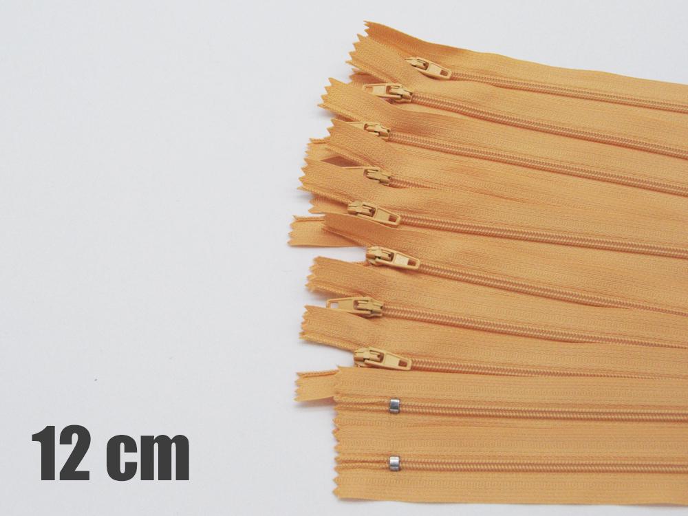 10 x 12cm camelfarbene Reißverschlüsse