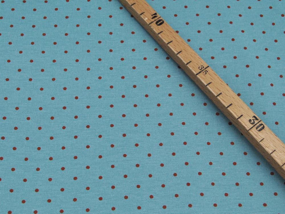 Jersey - Hase und Fuchs auf Pastellmint - 0,5m