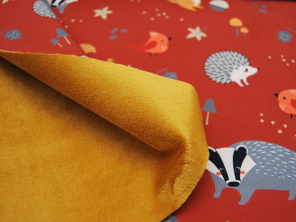 Softshell Finn Waldtiere auf Terracotta Meter