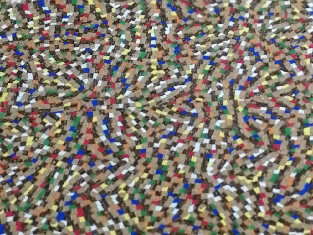 Korkstoff mit bunten Mosaik - Stueck 50 x 65 cm